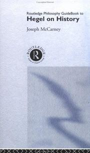 Cover of: Routledge Philosophy Guidebook to Hegel on History