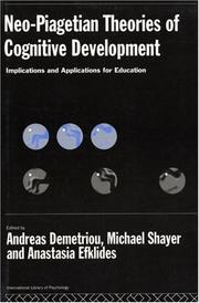 Cover of: Neo-Piagetian theories of cognitive development |