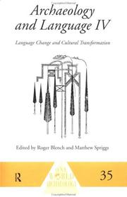 Cover of: Archaeology and language |