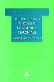 Techniques and principles in language teaching by Diane Larsen-Freeman