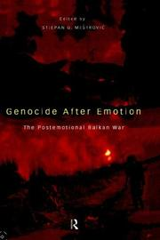 Cover of: Genocide after Emotion