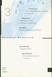 Cover of: Textual Practice | Alan Sinfield