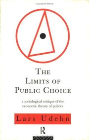 Cover of: The limits of public choice