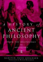 Cover of: A History of Ancient Philosophy
