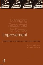 Cover of: Managing resources for school improvement | Hywel Thomas