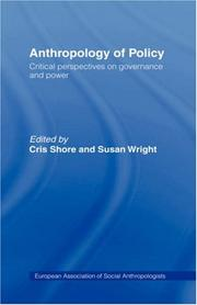 Cover of: Anthropology of Policy