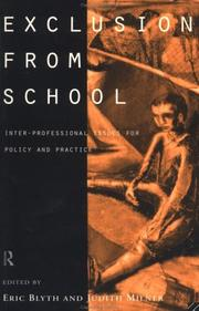 Cover of: Exclusion From School