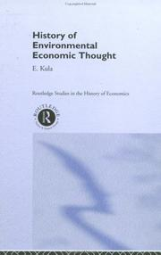 Cover of: History of environmental economic thought | Erhun Kula