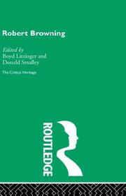 Cover of: Robert Browning: The Critical Heritage | Boyd Litzinger