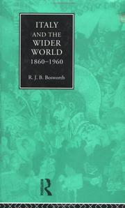 Cover of: Italy and the wider world 1860-1960