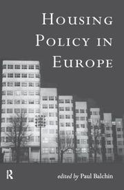 Cover of: Housing policy in Europe