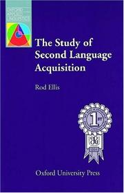 The Study of Second Language Acquisition (Oxford Applied Linguistics)