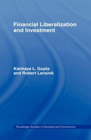 Cover of: Financial liberalization and investment