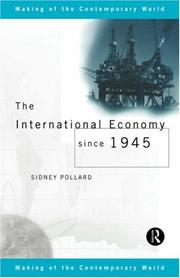 Cover of: The international economy since 1945