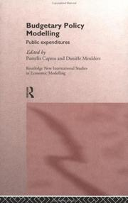 Cover of: Budgetary policy modelling |
