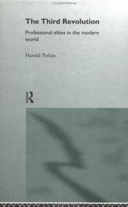Cover of: The Third Revolution | Harold James Perkin