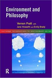 Cover of: Environment and Philosophy
