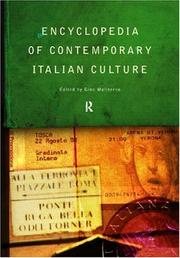 Cover of: Encyclopedia of Contemporary Italian Culture (Encyclopedias of Contemporary Culture