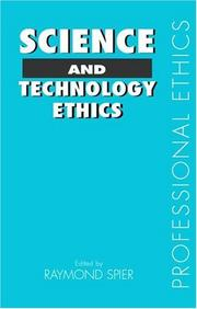 Cover of: Science and Technology Ethics (Professional Ethics)