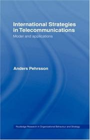 Cover of: International Strategies in Telecommunications