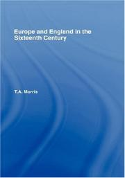 Cover of: Europe and England in the sixteenth century