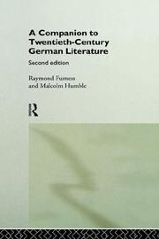A companion to twentieth-century German literature by Raymond Furness