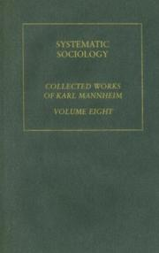 Cover of: Systematic Sociology: Karl Mannheim