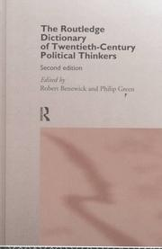 Cover of: The Routledge dictionary of twentieth-century political thinkers |