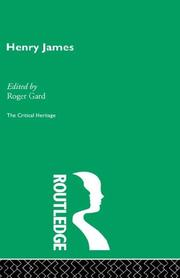 Cover of: Henry James