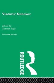 Cover of: Vladimir Nabokov | Norman Page