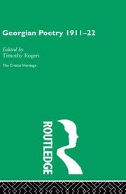 Cover of: Georgian Poetry
