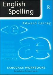 Cover of: English spelling