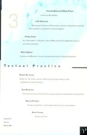 Cover of: Textual Practice 11:3