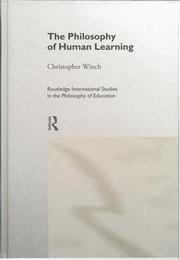 Cover of: The philosophy of human learning