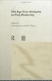 Cover of: Old age from Antiquity to post-modernity