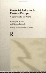 Cover of: Financial Reforms in East European Countries