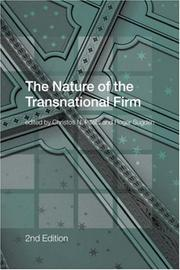 Cover of: The Nature Of the Transnational Firm