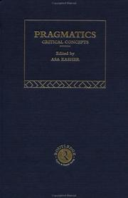 Cover of: Pragmatics | Asa Kasher