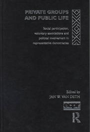 Cover of: Private Groups and Public Life