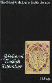 Cover of: Medieval English literature |