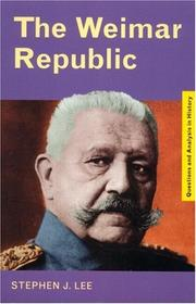 Cover of: The Weimar Republic