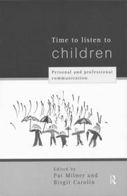 Cover of: Time to Listen to Children