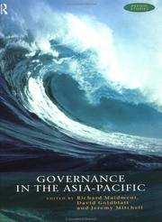 Cover of: Governance in the Asia-Pacific (Pacific Studies (London, England).)