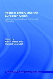 Cover of: Political theory and the European union |