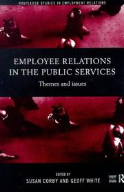 Cover of: Employee Relations in the Public Services