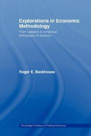 Cover of: Explorations in Economic Methodology
