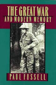 Cover of: The Great War and modern memory