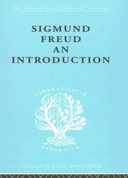 Cover of: Sigmund Freud - An Introduction