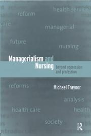 Cover of: Managerialism and nursing