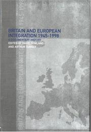 Cover of: Britain and European integration, 1945-1998 |
